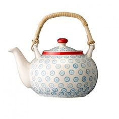 Tea Pot With Blue Floral Pattern available on Wysada.com