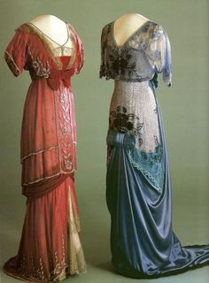 Evening dresses worn by Queen Maud of Norway, The beautiful dresses are only trumped by her epic name. Vestidos Vintage, Vintage Gowns, Vintage Outfits, Vintage Clothing, Vintage Hats, Edwardian Gowns, Edwardian Fashion, Edwardian Style, Victorian Dresses