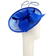 Buy John Lewis Zara Upturn Disc Occasion Hat, Cobalt, One Size from our Women's Hats range at John Lewis & Partners. John Lewis Hats, Occasion Hats, Hats Online, French Chic, Hats For Women, Cobalt, Applique, Zara, Bows