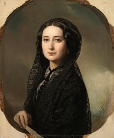 Carolina Coronado por Federico Madrazo y Kuntz. Female Portrait, Portrait Art, Portraits, Spanish Painters, Spanish Artists, Women In History, Art History, Female Poets, Spanish Woman