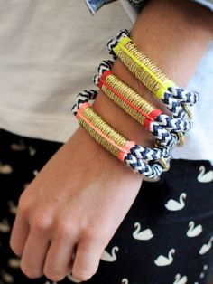 """Get ready for some SERIOUS Summer Arm Candy from Refinery29 Shops: """"Ropes Maine - Cape Elizabeth Bracelets""""       These bracelets are 110% Summer.....and I am DYING to get my arms into at least one of these gorgeous ropes...before my summer is over!!!!♥♥♥ #r29summerstyle"""