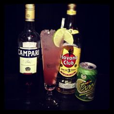 #door74 #cocktailoftheday 'Viva Forever' as a result of a photoshoot I did for them today. And because it's a #spicegirls song  built in a #longdrinkglass with 45ml #havanaclub 3yr #rum, 15ml #campari, 15ml fresh lime juice and topped up with #ting #grapefruitsoda. Viva Foreverrrrr!!