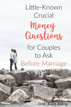 Money Questions for Couples to Ask Before Marriage These questions are SO insightful. A lot of them I would never have thought to ask. Check out the entire list by clicking through to the article.