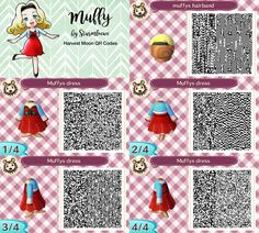 Harvest moon Muffys dress for Animal crossing new leaf muffy Katja qr code