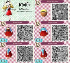 Harvest moon Muffys dress for Animal crossing new leaf muffy Katja qr code