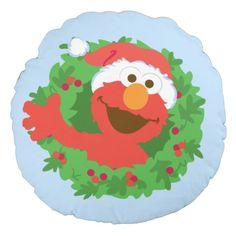 Elmo Wreath. Regalos, Gifts. #cojín #pillow
