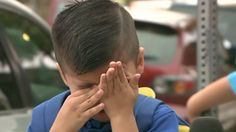 4-year-old cries on TV when asked about first day of school
