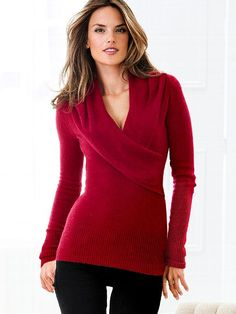 White: Angel Bouclé Cross-front Sweater #VictoriasSecret http://www.victoriassecret.com/clothing/all-sweaters/angel-boucl-cross-front-sweater?ProductID=88264=OLS?cm_mmc=pinterest-_-product-_-x-_-x
