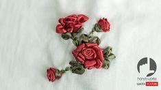 Ribbon Flowers Roses