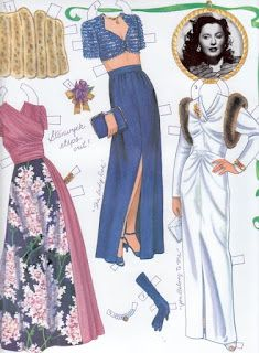 The Paper Collector: Barbara Stanwyck paper dolls by Marilyn Henry