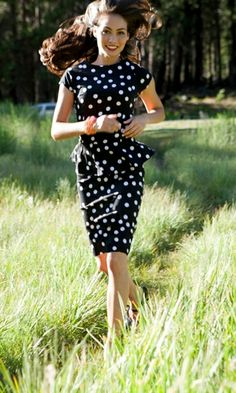 Shabby Apple's Jacob's pillow dress, playful polka dots and classic style
