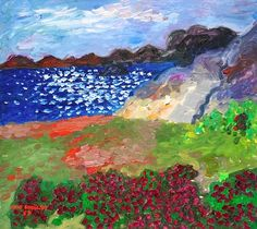 Inge Schiöler, Flowering Meadow by the Bay  on ArtStack #inge-schioler #art