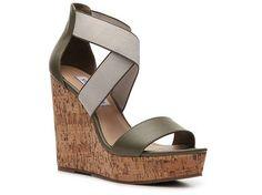 Steve Madden Eddna Wedge Sandal #PinToWin #DSWShoeHookup