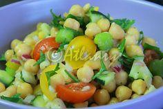 Terapia do Tacho: Salada de grão com vegetais (Garbanzo beans and veggies salad)