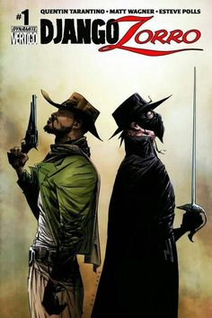 Django & Zorro #1 cover art by Jae Lee (DC/ Vertigo comics)