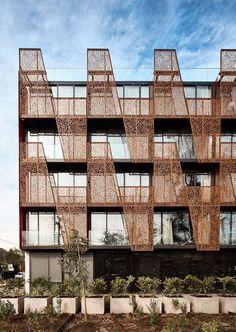 Gallery of Ladera Hotel / Estudio Larrain - 2 Hotel Architecture, Residential Architecture, Architecture Design, Facade Design, Exterior Design, Mall Facade, Green Facade, Building Facade, Balcony Design