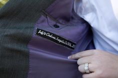 personalized groom suit jacket | Mackensey Alexander Photography & YOJ Events