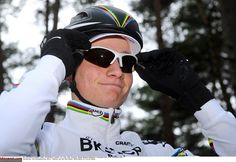 Mathieu Van der Poel (BKCP-Powerplus) in his new rainbow jersey