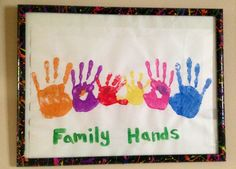 Fun family picture idea! Everyone does there hand & put it in a cheap black frame splatter paint on it.