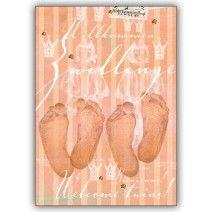 Geburts/ Baby Gratulations Glückwunschkarte: Willkommen Zwillinge