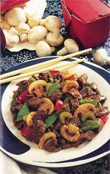 Beef with Snow Peas {Via Highline Mushrooms}