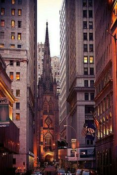 An interesting shot of St. Patrick's Cathedral in New York City.