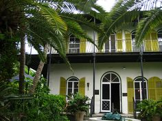 Hemmingway house...Key West, Florida: Ernest Hemingway's old Key West home. It is absolutely gorgeous and has been renovated into a museum. It is also said to be haunted!