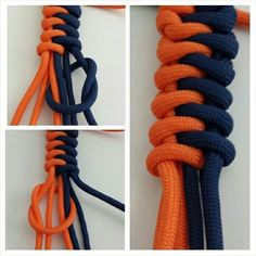 Here's a fun and easy to brighten up your Saturday! Make this paracord bracelet for that special someone--or, you know, yourself. (via Paracord Guild) Paracord Bracelet Instructions, Paracord Knots, Paracord Bracelets, Macrame Bracelets, Male Bracelets, Paracord Braids, Paracord Projects, Paracord Ideas, Parachute Cord