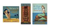 Meissenburg Designs-  VINTAGE DECOR SIGNS- We created these illustrations to be printed on wooden signs and sold as home decor. Illustrator: Joel Anderson