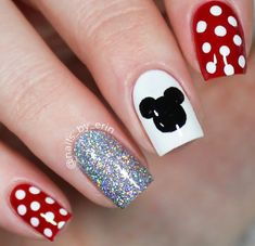 Disney Acrylic Nails, Cute Acrylic Nails, Cute Nails, Pretty Nails, Disney Nails Art, Disney Manicure, Disney World Nails, Disney Inspired Nails, Disney Princess Nails