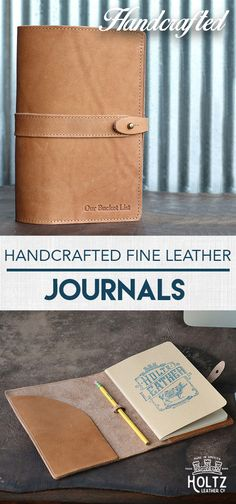 $74.00 - Personalized with Name or Message - The Inventor Fine Leather Moleskine Journal is handmade right here in our Huntsville, Al. shop with the finest of Full Grain American leathers. We hand-pick our leather hides from a local tannery for a rustic look and feel. Inserts can be purchased from any local bookstore.