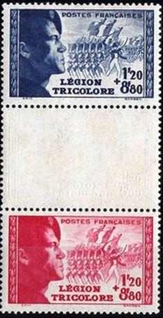 Francobolli francesi Legione Tricolore