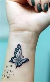 Pretty butterfly wrist tattoo