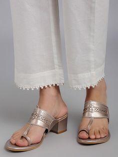 & Capri & & new salwar poncha design Mohri Designs Sleeves Designs For Dresses, Dress Neck Designs, Kurta Designs Women, Salwar Designs, Salwar Pants, Dress Over Pants, Pakistani Fashion Casual, Metallic Flats, Designer Wear