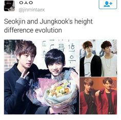 Jungkook and jin are so cute