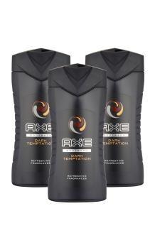 3 gels douche Axe<BR>Dark Temptation - 3 x 250 ml