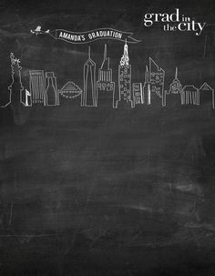 Custom chalkboard graduation city scene (font options available) - - backdrop outlet Prom Backdrops, Vinyl Backdrops, Graduation Backdrops, Custom Backdrops, City Backdrop, Fabric Backdrop, Senior Picture Props, How To Make Labels, Printed Balloons