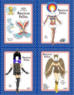 Paper Doll American Follies by J M Johnson Item by JudysPaperGoods, $9.00
