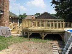 supports...Wood Pool Deck in Summerville, SC