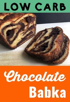 Low Carb Chocolate Babka Cake
