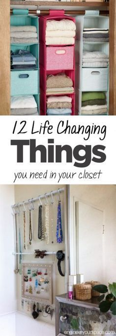 7 Closet Organizing Hacks Youu0027ll Actually Want To Try | Spaces,  Organizations And Organizing