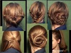 Easy updo hairstyle for work