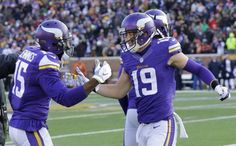 ADAM THIELEN HAULS IN HIS FIRST TD RECEPTION THEN COMPLETES A PASS TO HIS FIANCE IN THE STANDS. ADAM HAD A STRONG DAY ON BOTH SPECIAL TEAMS AND AS A RECEIVER.12/28/2014 against the Bears