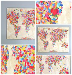 United Colors of Love World Map I need to make this.