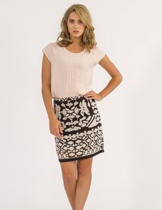 Greylin Black Print Chloe Embroidered Skirt Now 25% off use promo code BOTTOMSUP at www.TwoSmitten.com