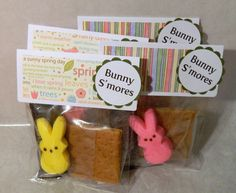 Bunny S'mores - perfect for a Baby Shower or Child's Birthday Party (4 pack). $5.00, via Etsy.