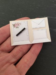 Dolls House Miniature Writing Letter Set in 1:12 by Artistique