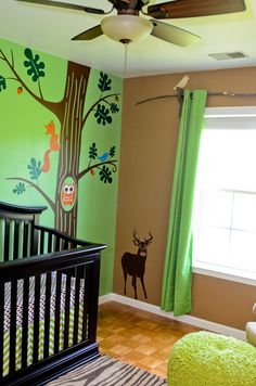 Nursery... Maybe paint the walls a darker color and paint glow in the dark patronus' bouncing on the walls to go with the Harry Potter theme!!!! Aahhhh.