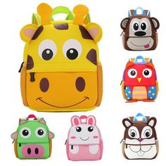 Buy New 3D Animal Children Backpacks Brand Design Girl Boys Backpack  Toddler Kids Neoprene School Bags Kindergarten Cartoon Bag  21.96- ICON2 e9fcff491ce99