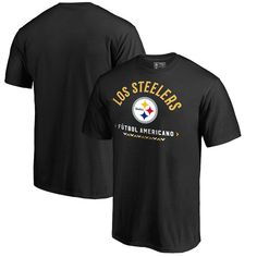 6d577b012d5 Men s Pittsburgh Steelers NFL Pro Line by Fanatics Branded Black Futbol  Americano T-Shirt